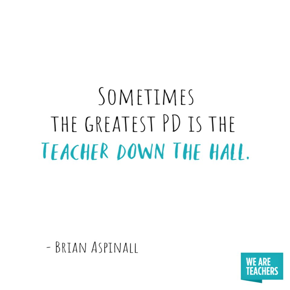 Sometimes the greatest PD is the teacher down the hall.