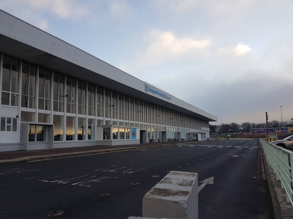Our BPC officers in the West are carrying out daily security checks at Glasgow Prestwick Airport 🛩️
