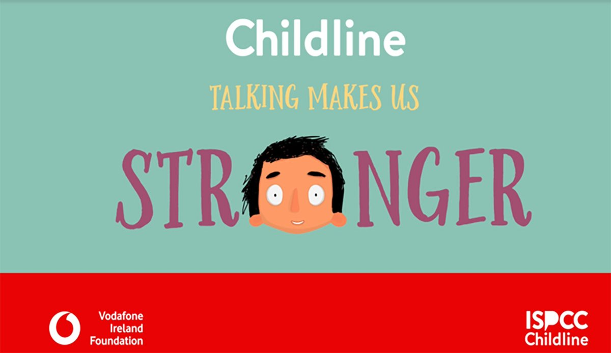 ISPCC Childline, in partnership with the Vodafone Ireland Foundation, has developed the Talking Makes Us Stronger campaign to show children that it helps to talk.   @VodafoneIreland @VodafoneFdn