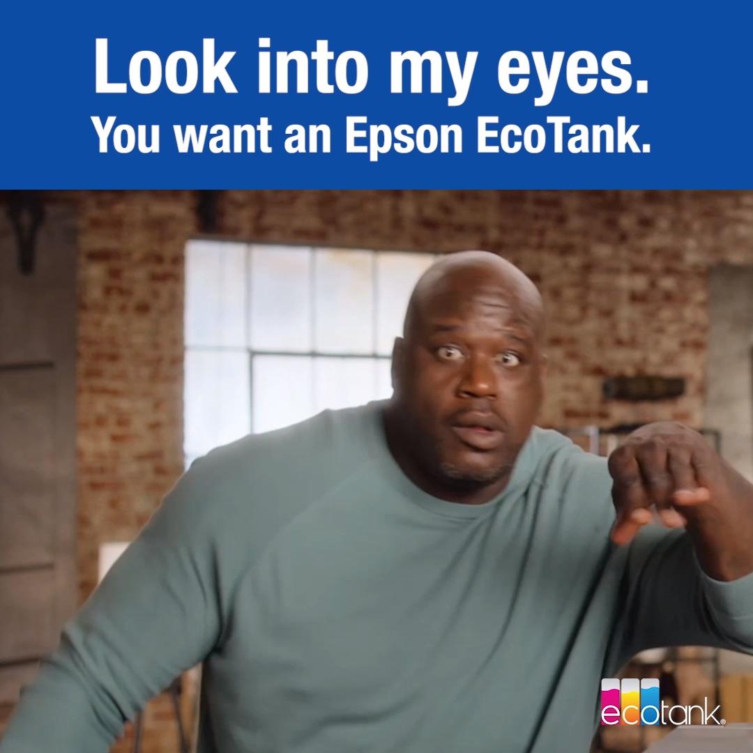 You know you want it! 👀 #EcoTank   #JustFillAndChill #Epson #Shaq #Printer