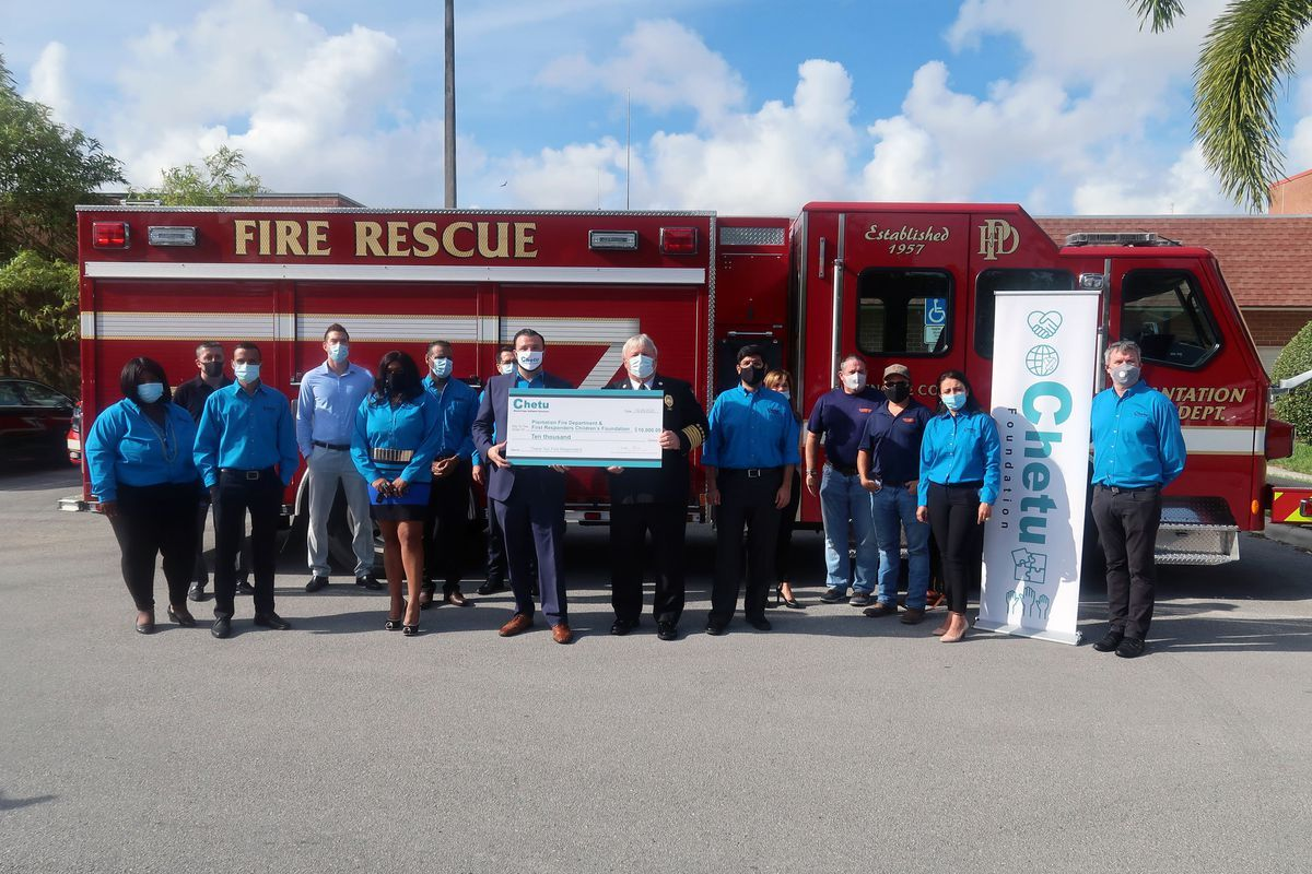 Thanks, @SunSentinel for the excellent coverage of our #FirstRespondersDay event!  @1strcf @PlantationFire #CSR #GiveBack