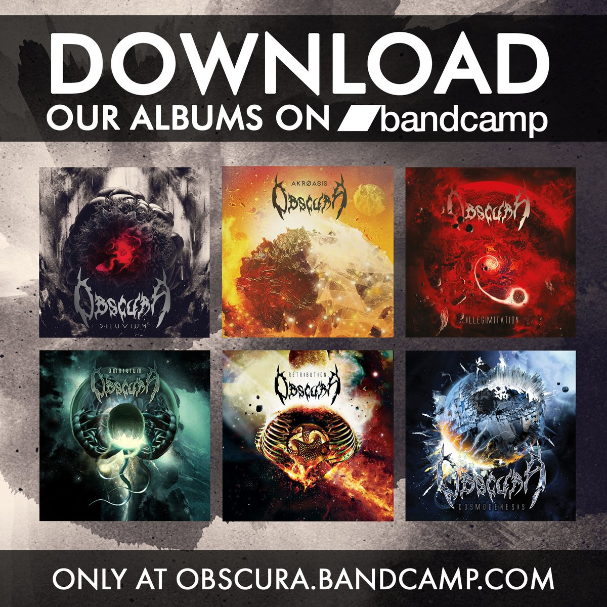 Today it's bandcamp Friday, meaning that bandcamp will waive their revenue share in order to help artists and labels impacted by the pandemic.  If you want to download our albums and support the band, visit https://t.co/J74d8AtrIo .  #obscura #bandcamp #deathmetal https://t.co/oFkGfjr7sG