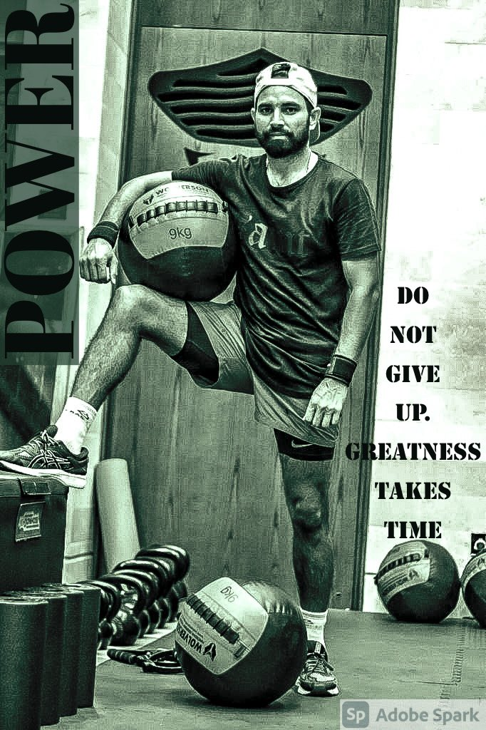 DO NOT GIVE UP. GREATNESS TAKES TIME #SaddaPunjab #mshami11 #gym #fitness