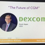 Image for the Tweet beginning: #DDATA2020 starting with Dexcom's Kevin