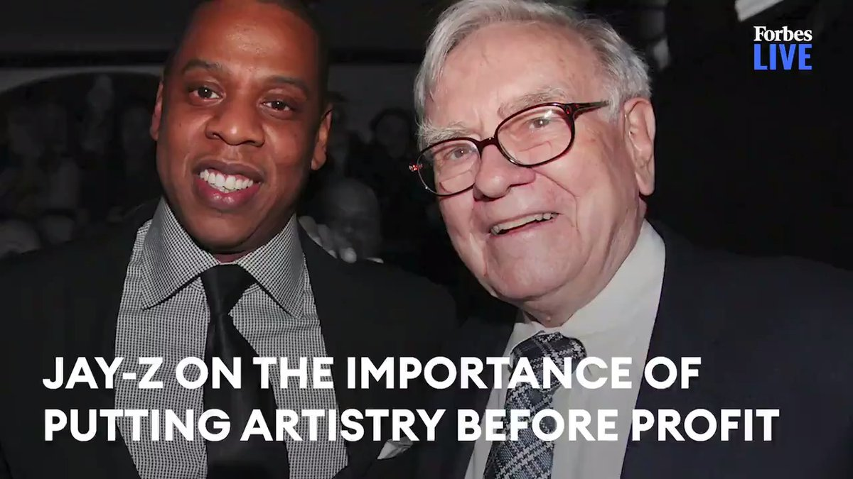 RT @Forbes: Jay-Z on the importance of putting artistry before profit https://t.co/eK6pJGrQSL