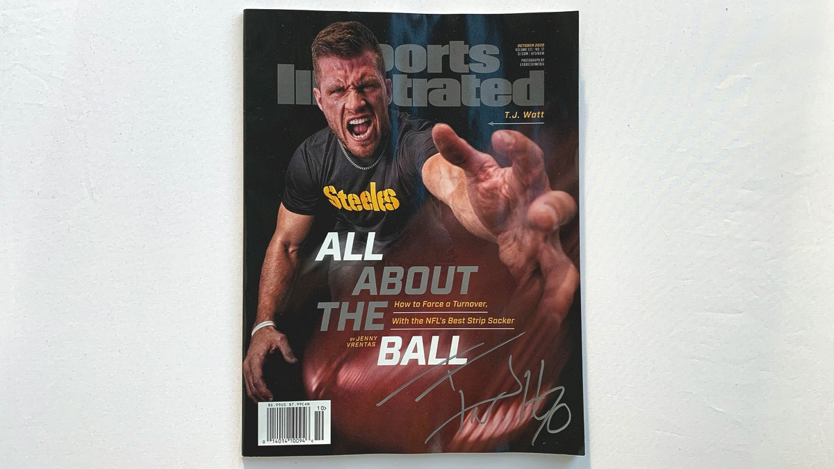 Replying to @steelers: Want an issue of @SInow signed by @_TJWatt? ✍️  RT + like for a chance to win it!