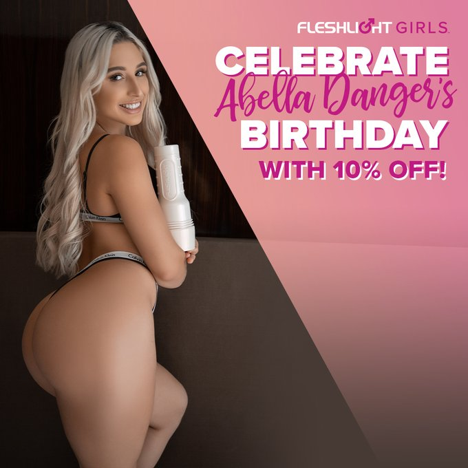 Celebrate Fleshlight Girl @Abella_Danger's birthday ALL MONTH with 10% off her Fleshlight by using coupon