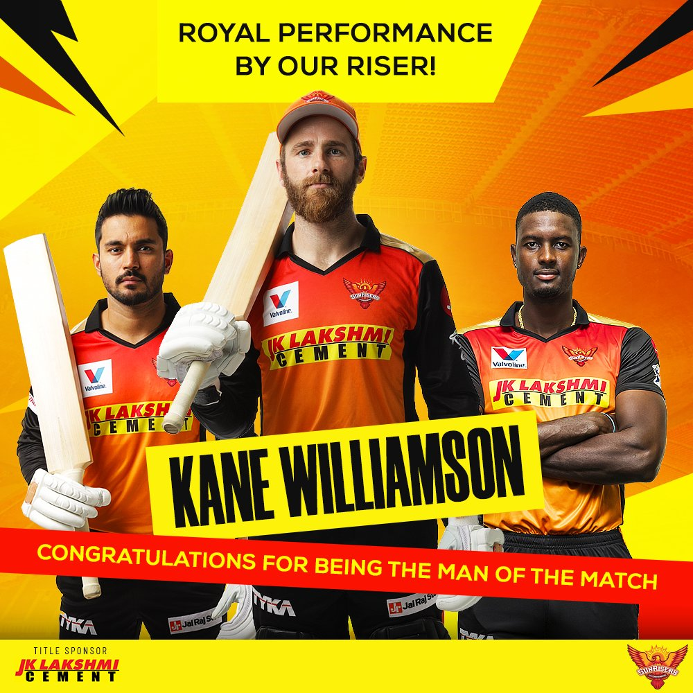 A truly inspiring show of grit by Kane Willamson helped @SunRisers  surge ahead!   #RisersWithBulandSoch #SRH #SunRisersHyderabad #OrangeArmy #KeepRising