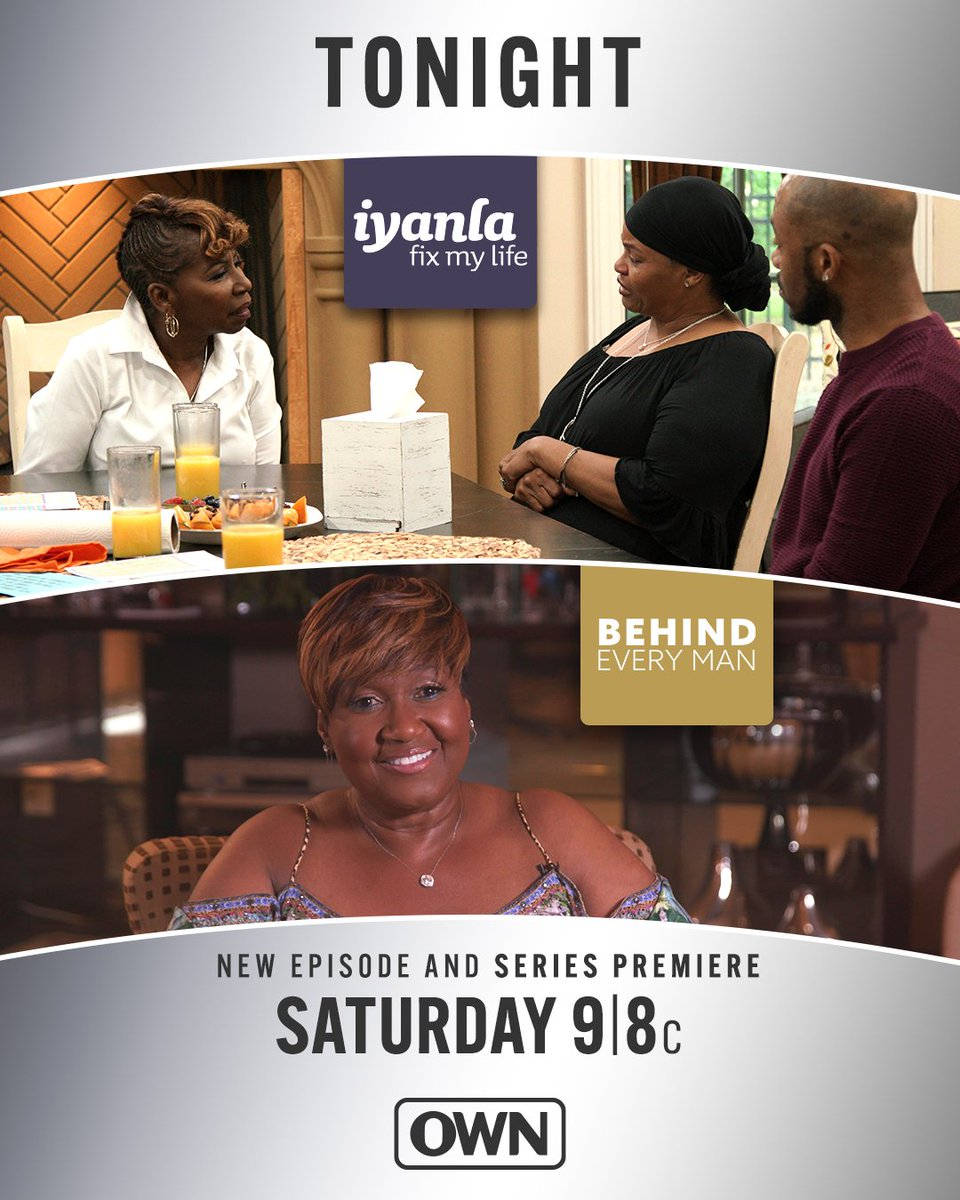 Join us TONIGHT for an all-new episode of #FixMyLife at 9|8c, followed by new series #BehindEveryMan.