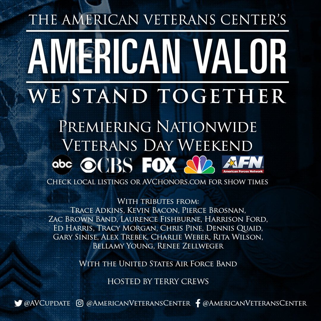 #WeStandTogether, produced by @AVCupdate and airing nationwide this #Veterans Day and beyond. #StayTuned #AmericanValor