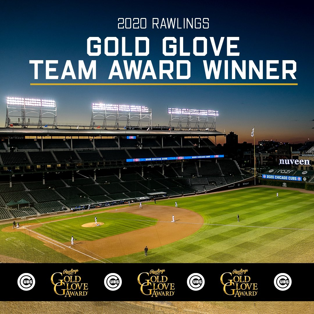 The #Cubs have been named the top defensive team in the NL, winning the first ever Rawlings Gold Glove Team Award! https://t.co/1QIpK2EDJq