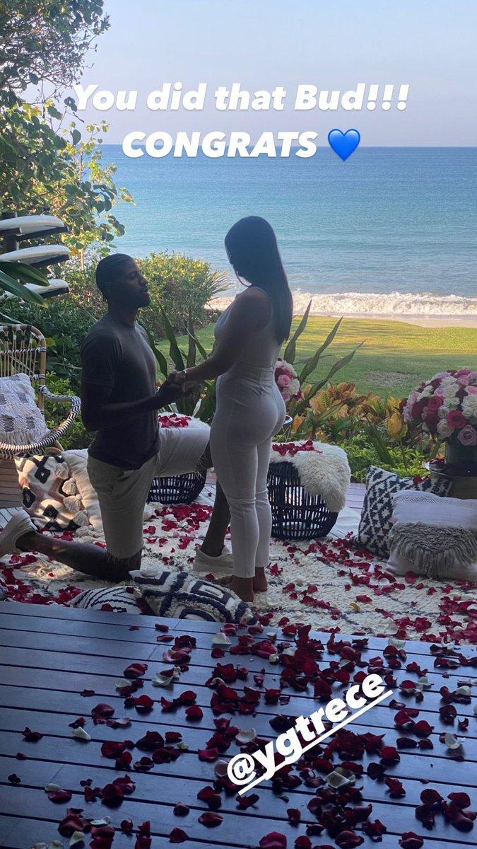 Replying to @BleacherReport: Paul George and his girlfriend, Daniela, just got engaged 💍  (via itsmeyt_/IG)