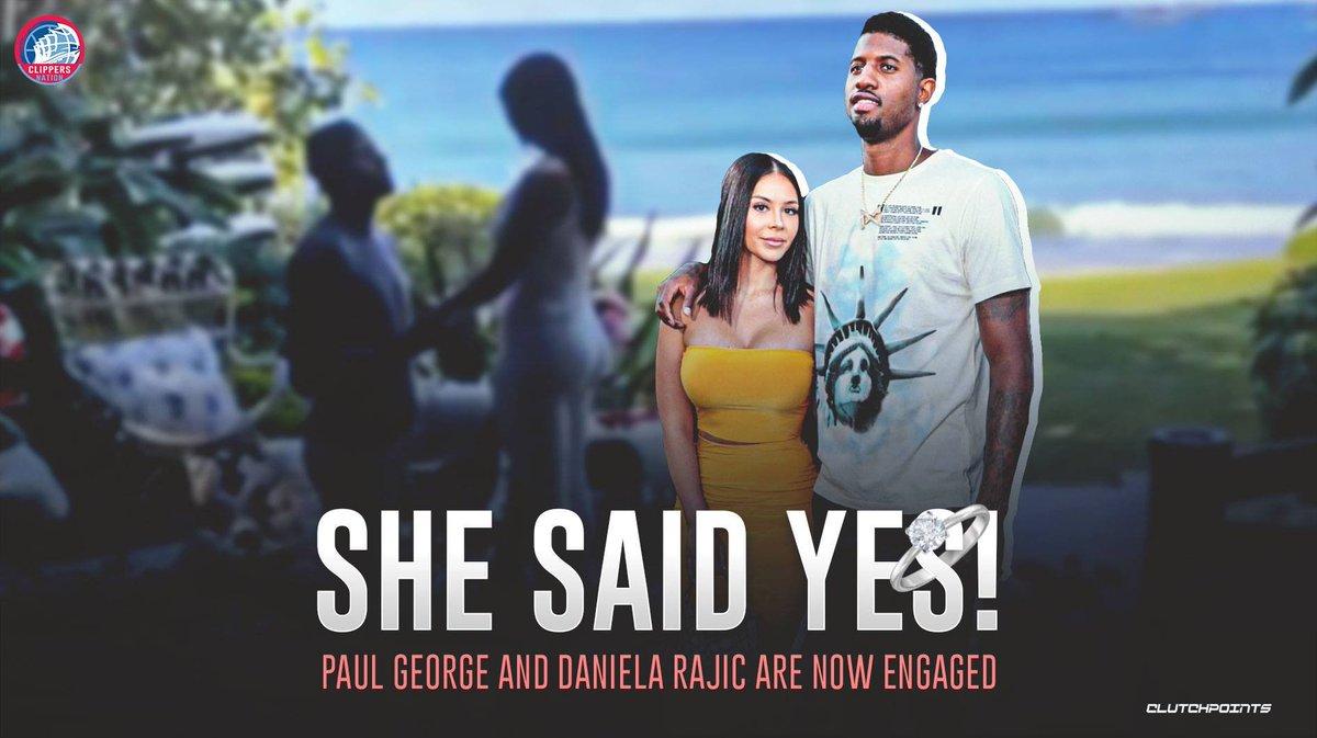 Congratulations to Paul George and Daniela Rajic 👏
