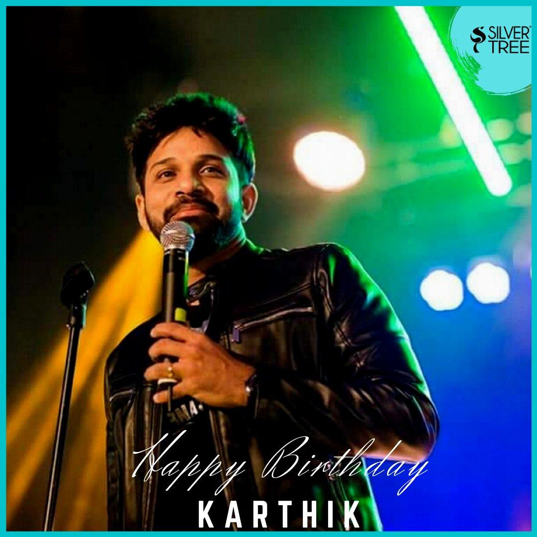 Birthday greetings to @singer_karthik✨   #HBDKarthik #Karthiksinger #Silvertreewishes
