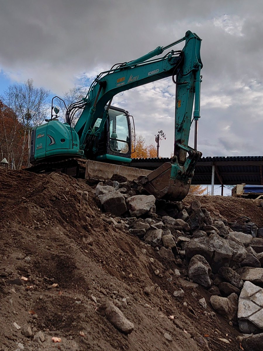 河川復旧工事は、なかなか辛い 遺品整理士なんだけどなぁ(´・ω・`)