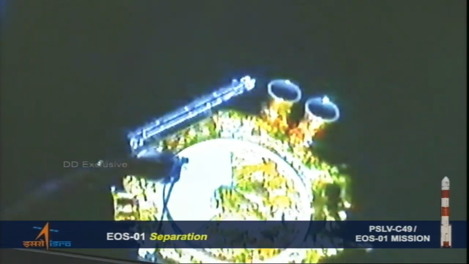 EOS01 successfully separated from fourth stage of #PSLVC49 and injected into orbit