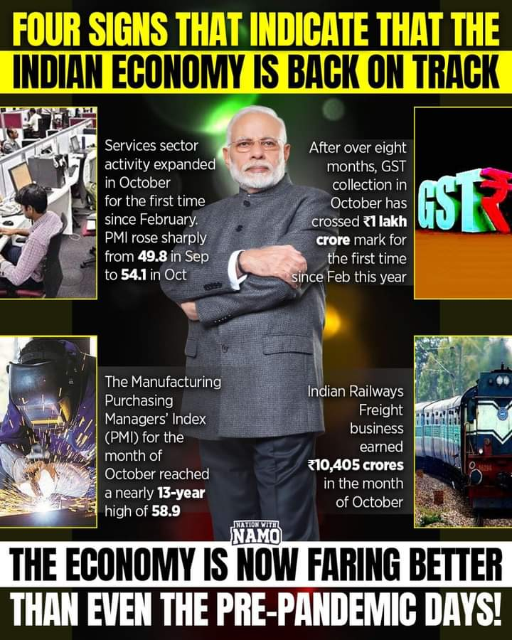 It is safe to say that the Indian economy is back on track #DownloadAtmanirbharApps