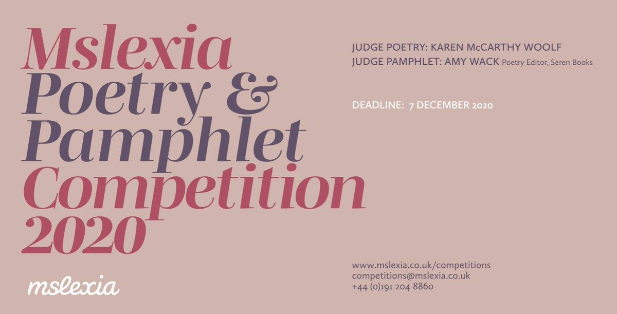 One month warning! ⏰ Want to win £2000, a 1-1 feedback session with @Malikabooker and a week at @CovePark? Or maybe see your poems bound in a pamphlet, published by @SerenBooks? Theres one month left to enter our Poetry & Pamphlet Competition! bit.ly/2TqcfYP