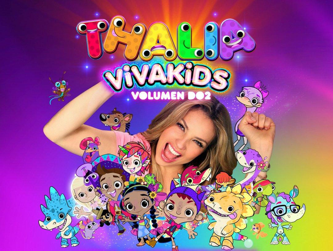 News: Ya casi sale a la venta #VivaKids Vol.2 de @Thalia por las tiendas de MX @MixupTeam! Atentos a las redes sociales, que pronto lo podrás tener en formato Fisico! Incluirá 2 cds. Puedes disfrutar de estás 15 canciones inéditas también aquí 🎵⬇️💿