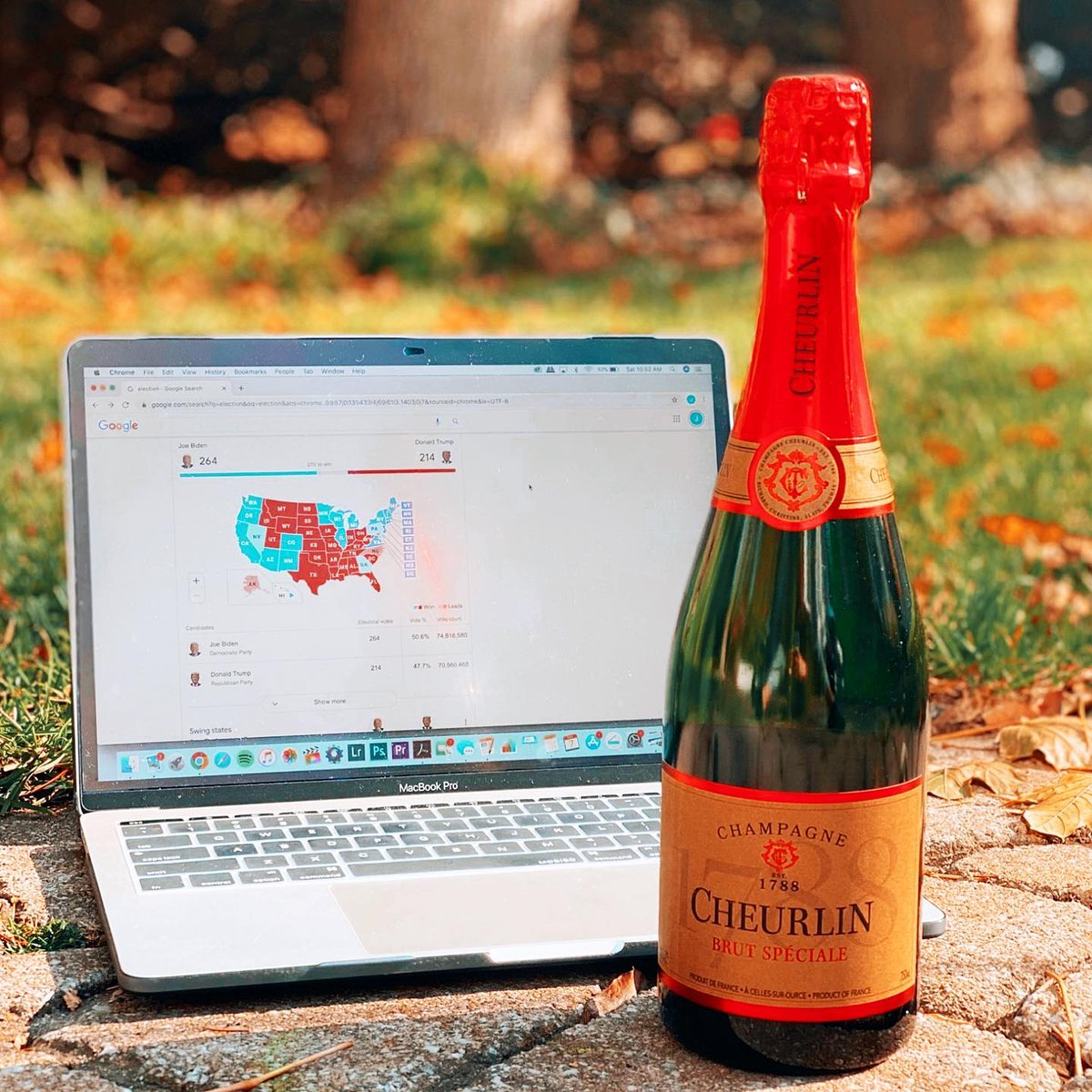 While we wait, we might as well drink. #Cheurlin1788 #Election2020