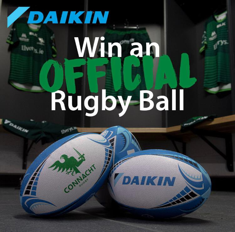For this weeks giveaway we have another official @connachtrugby rugby ball! For your chance to win all you have to do is... 1. Follow @daikinireland  2. Like this post  Winner will be picked on Tuesday!  #Daikin #DaikinIreland #ConnachtRugby #giveaway #competition #prize #rugby https://t.co/ft1h8ocCHJ