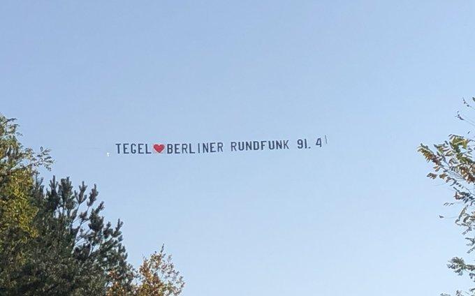 Der BerlinRundfunk sagt DankeTXL. Der Flughafen schließt