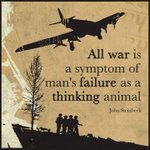 Image for the Tweet beginning: 'All war is a symptom