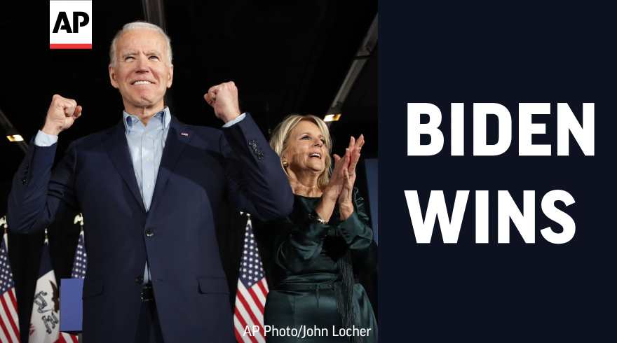 JOE BIDEN DEFEATS PRESIDENT DONALD TRUMP   The Associated Press declares Joe Biden the winner of a grueling campaign for the American presidency. He will lead a polarized nation through a historic collision of health, economic and social crises.   #APracecall