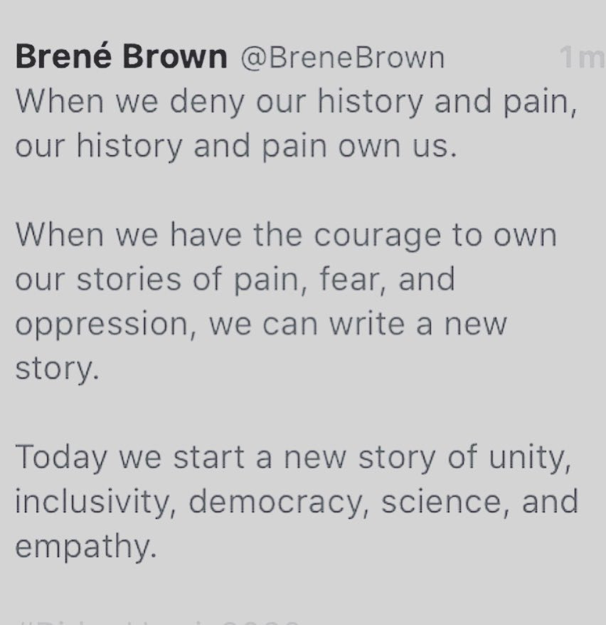 @MichelleObama @BiancaJagger We start a new story of unit, inclusivity, democracy, science and empathy!
