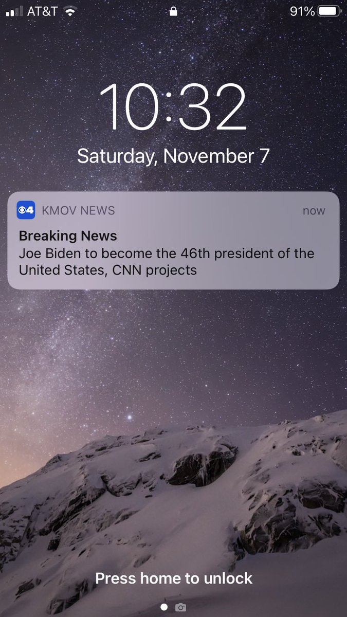 Just received this push alert from the @KMOV news app. #Election2020