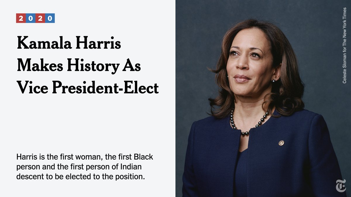 Kamala Harris has made history. nyti.ms/36dkRYX
