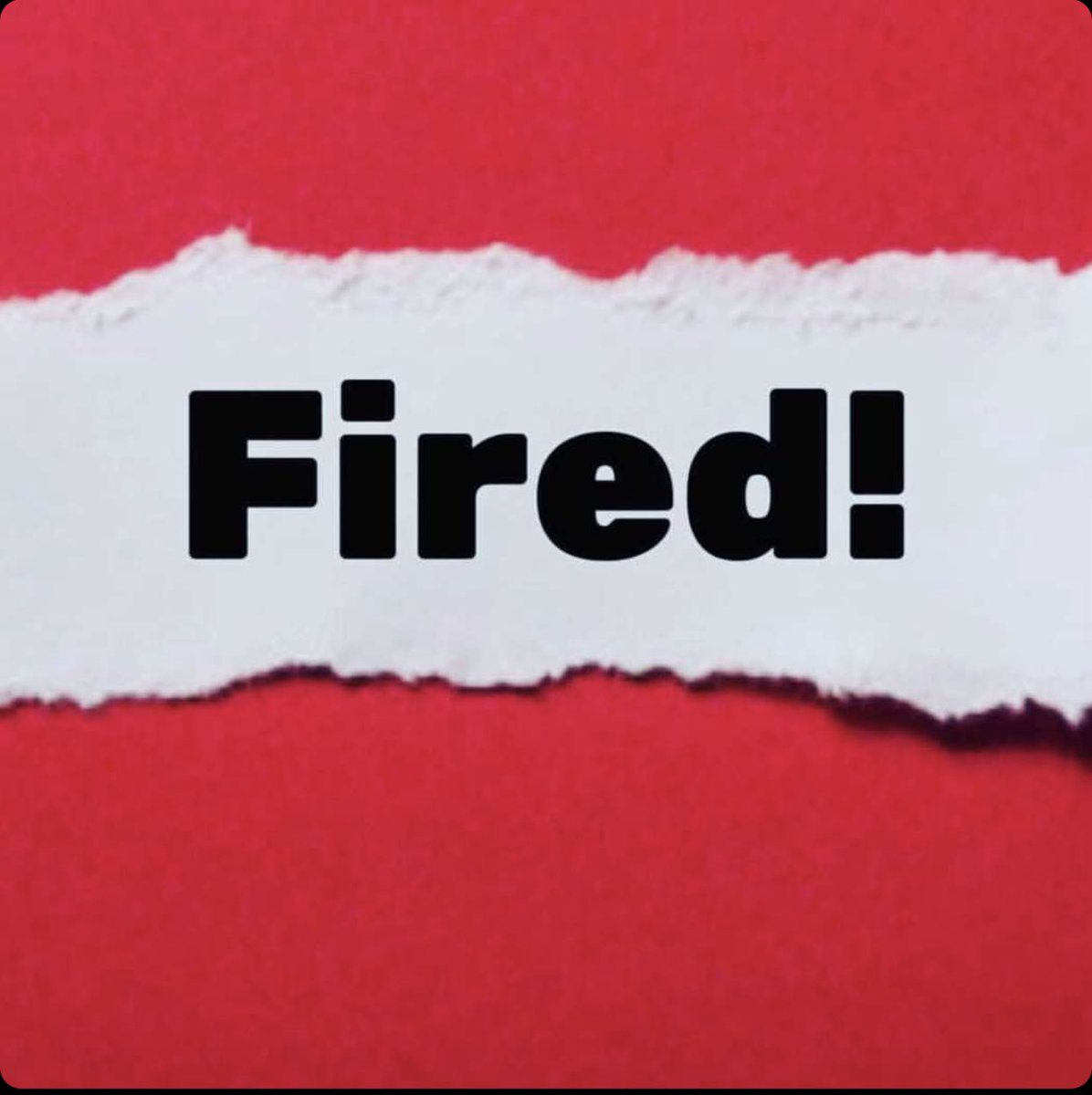 Replying to @Rosie: trump is fired