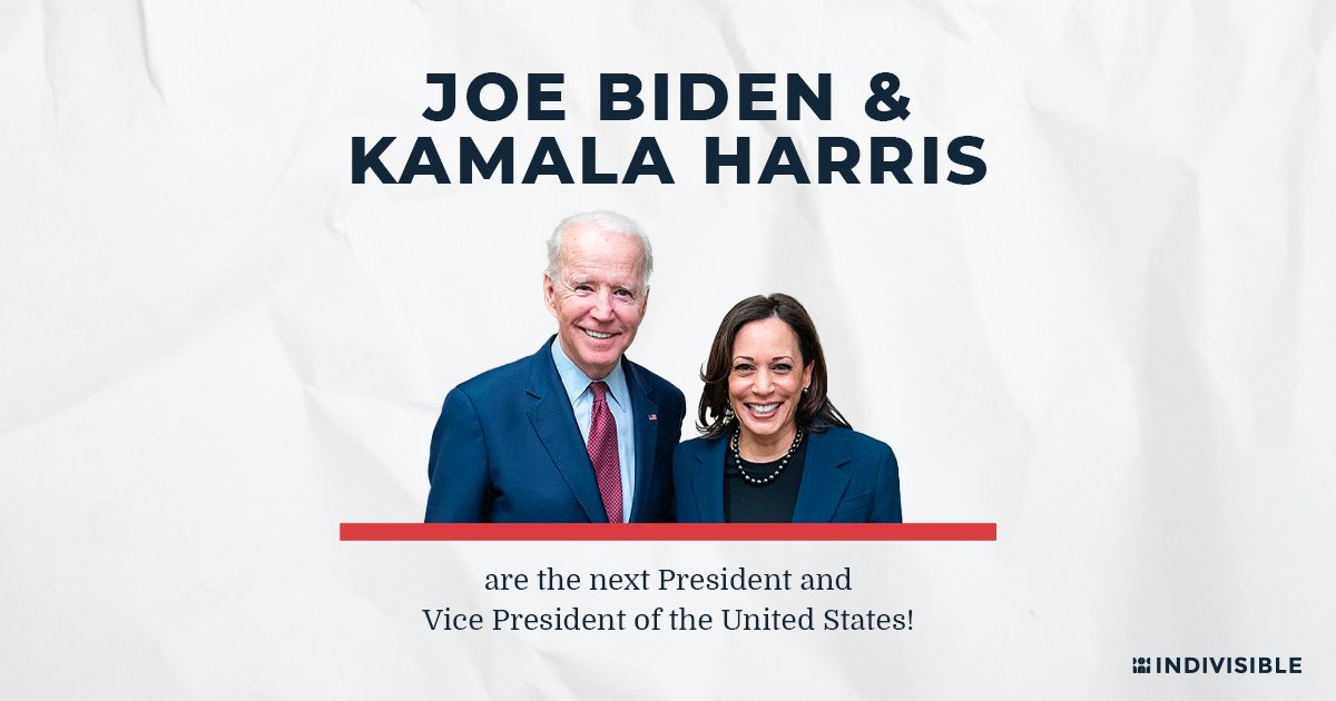 .@JOEBIDEN AND @KAMALAHARRIS WON THIS ELECTION, BY A LOT!