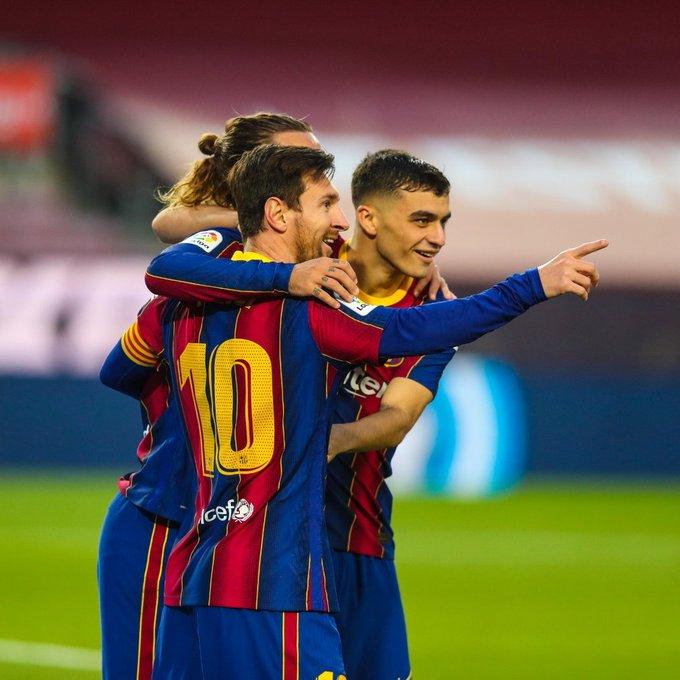 "FC Barcelona on Twitter: ""Messi, Grizi, Pedri #BarçaBetis (5-2)… """