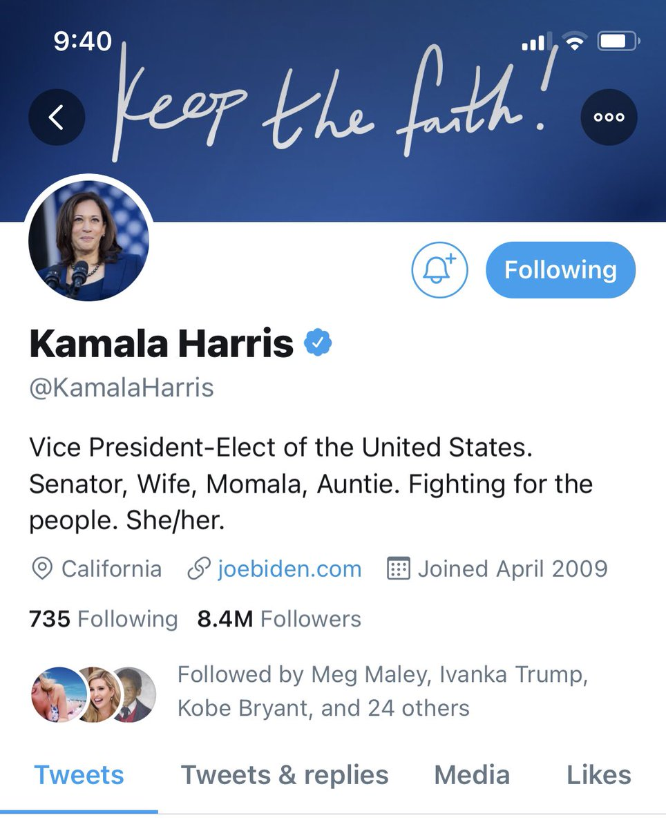 It feels so good to see this! I been rooting for her since day one! @KamalaHarris #VicePresidentElectHarris