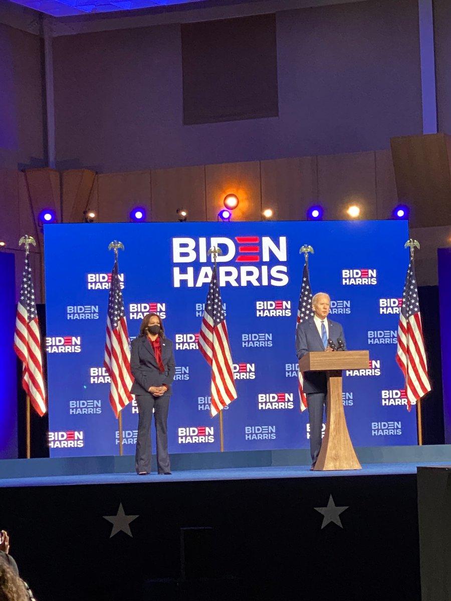 Welcome President-elect @JoeBiden and Madam Vice President-elect @KamalaHarris. It's been an honor of a lifetime.