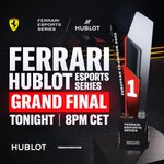 The Ferrari Hublot Esports Series is ending soon! Yesterday I watched the races and I was impressed by so many talented drivers. The finals are going live now, who is gonna be the next champion? Watch at @ferrariesports Twitch at 8 pm CET!