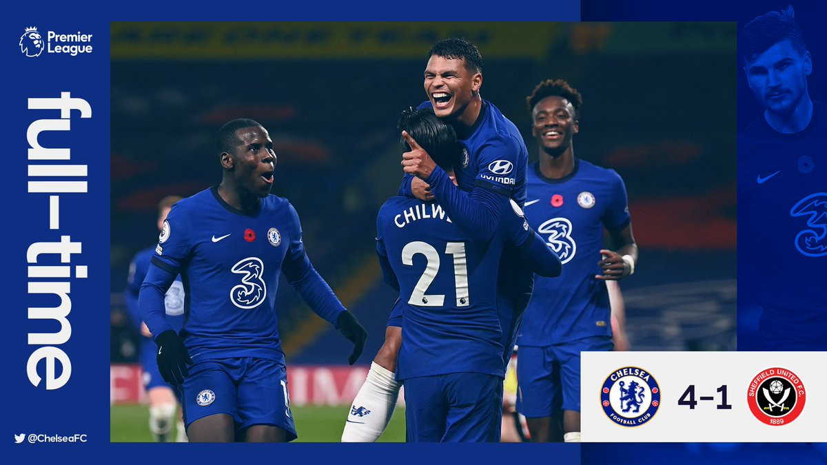 Chelsea 4-1 Sheffield Utd! 💪  What a win, what a performance! 🔵 #CHESHU https://t.co/pYRYLijEAy