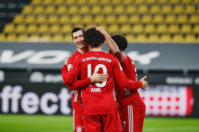 Боруссия Дортмунд - Бавария 2:3. Холанд и Левандовски обменялись голами, но у Баварии есть еще Сане - изображение 2