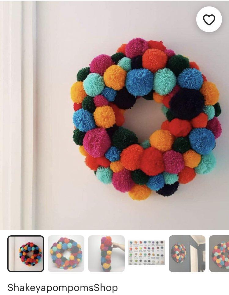 @_MrLevick My sister makes really cool Pom Pom wreaths & decorations: etsy.com/uk/shop/Shakey…