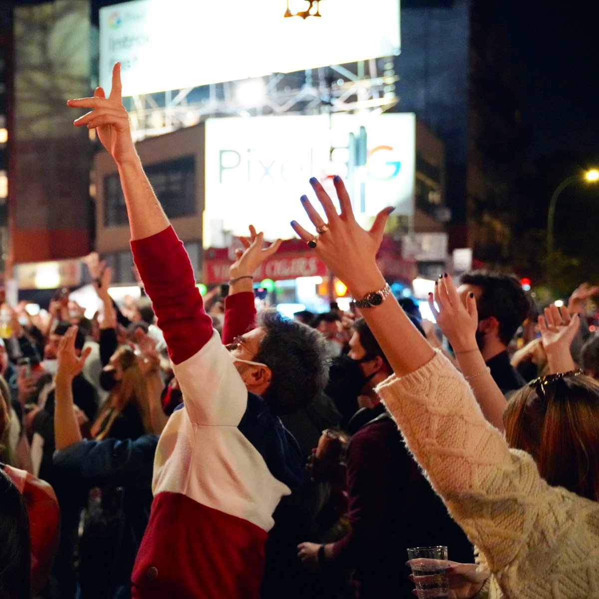 The West Village tonight: