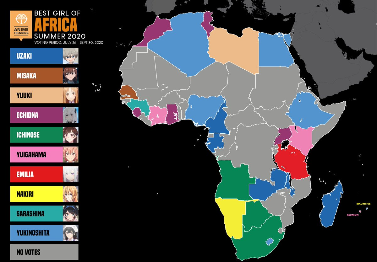 "Anime Trending on Twitter: ""Here are the best girls of Africa for"