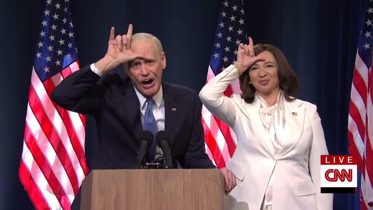 Replying to @nbcsnl: Joe and Kamala have a message for Donald Trump.