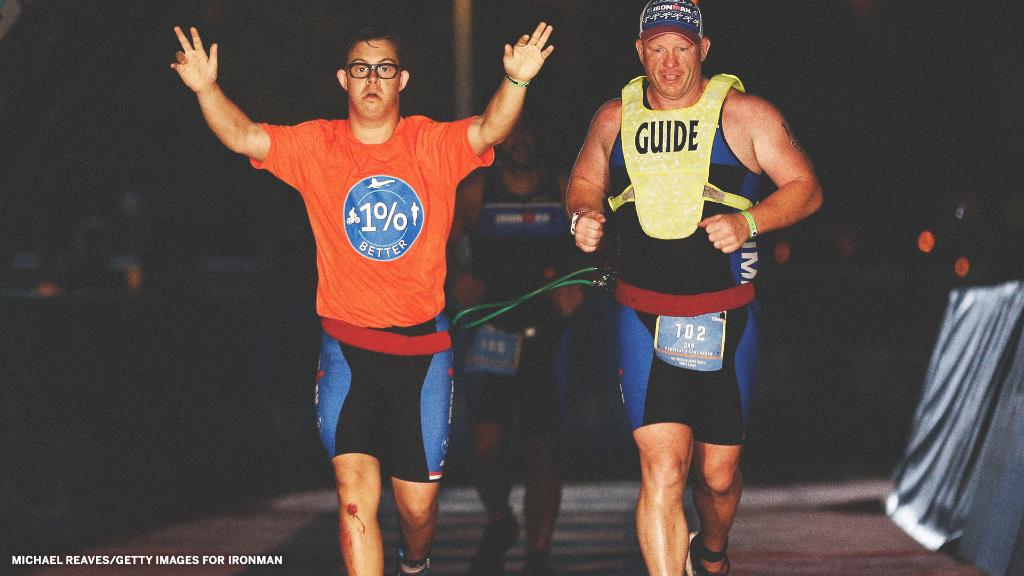Chris Nikic became the first person with Down syndrome to complete an IRONMAN. Incredible 👏  🏊♂️ 2.4 mile swim 🚴♂️ 112 mile bike ride 🏃♂️ 26.2 mile run  (h/t @IRONMANtri , @ESPNUK)