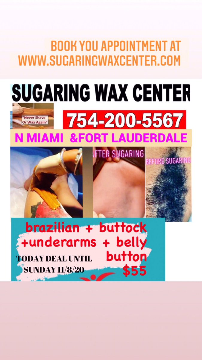 We are open Sunday @Sugarwaxcenter