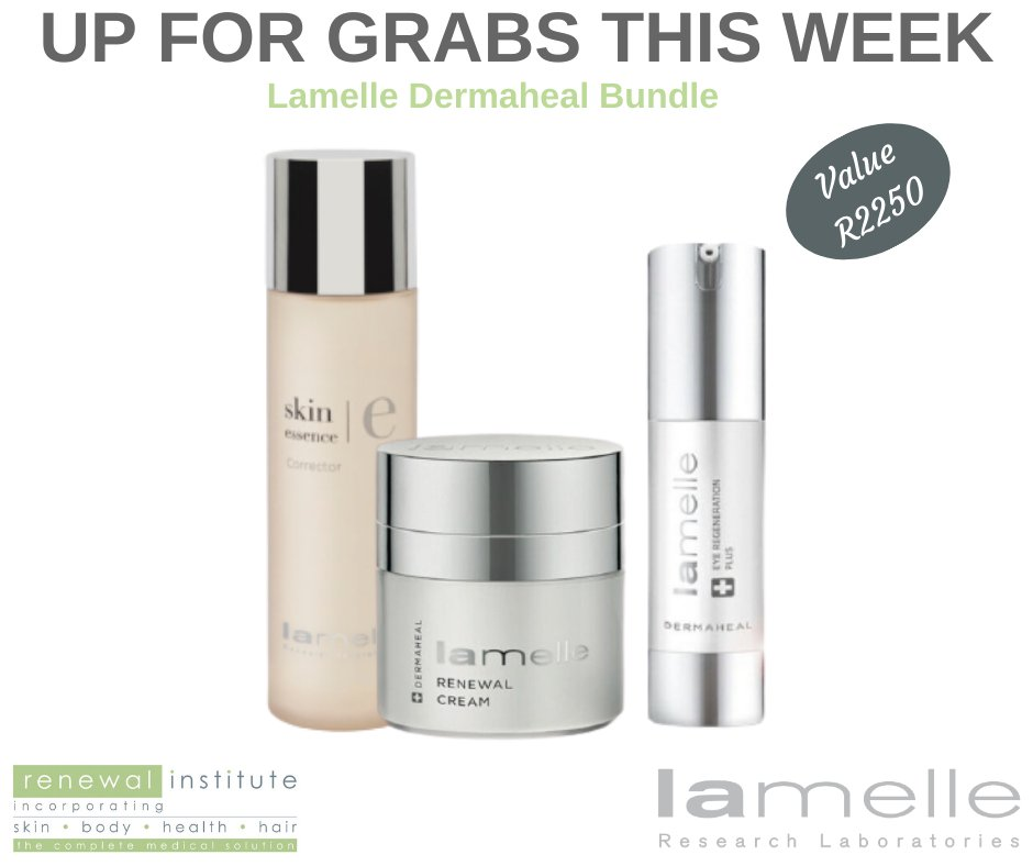 UP FOR GRABS THIS WEEK! This week you stand the chance of winning a LAMELLE DERMAHEAL BUNDLE valued at R2250. ENTER HERE:  or on Facebook: SkinRenewalSA #win #competition #SkinRenewalSA #skin #skincare #OnlineSkinShop #SkinShop #Lamelle (T & C's apply)