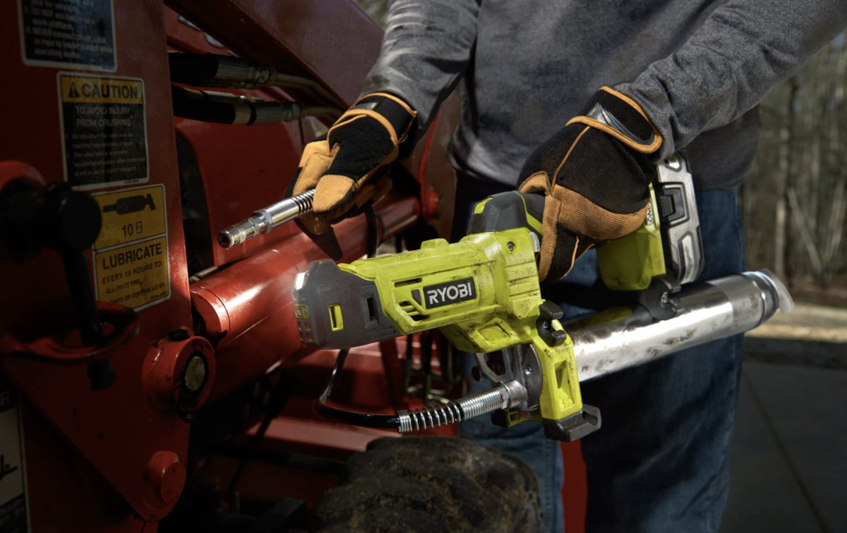 Greased up and ready to go ✅   Add the 18V ONE+ Grease Gun to your toolbox!
