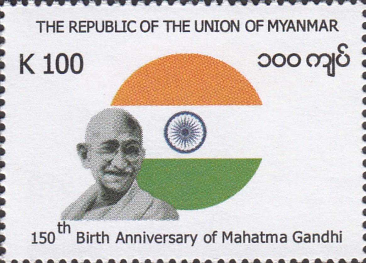 Moving along on the Gandhi 150 years postal stamps.  Myanmar (Burma) and Ivory Coast (Cote D'Ivoire) issued their versions of Mahatma Gandhi stamps on 02 Oct 2019. Ivory Coast stamps were provided in two denominations.  #BetterPhila #Gandhi150 #GandhiEncore #18 #19