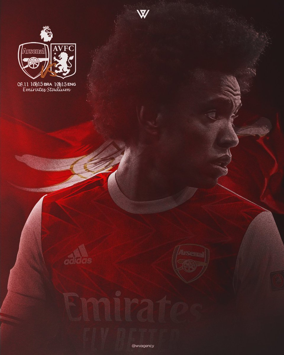 MATCHDAY! 💪 Arsenal x Aston Villa ⚽️ Premier League🏆 Emirates Stadium 🏟 7h15pm 🇬🇧 16h15 🇧🇷  #premierleague #arsenal #W12 #gunners