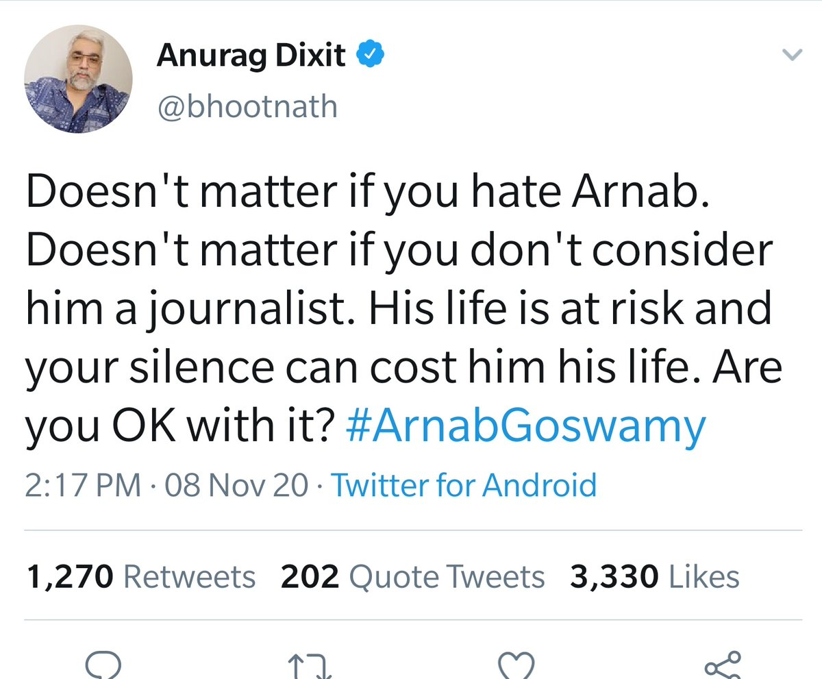 Aww! Arnab's life is at risk?  The same guy was willing to contribute to people wbo gets Umar Khalid 'dead or Alive' https://t.co/BxeJWerfOj